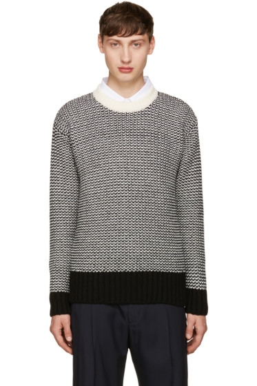 AMI Alexandre Mattiussi - Black & White Wool Sweater