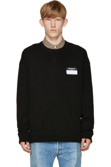 AMI Alexandre Mattiussi - Black Name Tag Sweater