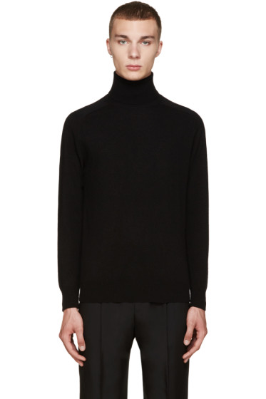 AMI Alexandre Mattiussi - Black Wool Turtleneck Sweater