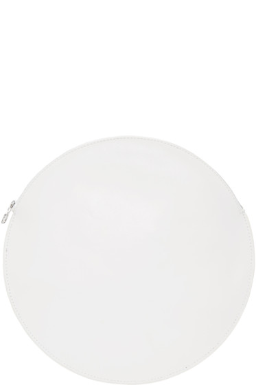 Kara - White Circle Pouch