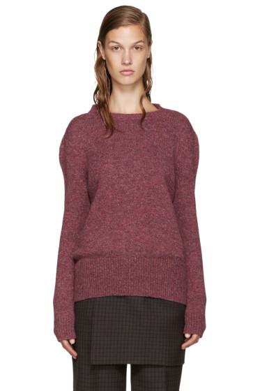 Yang Li - Pink Wool Reverse Cardigan