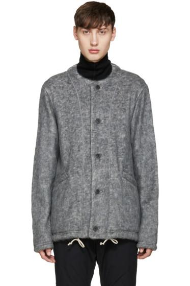 08Sircus - Grey Collarless Jacket