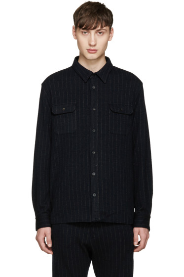 08Sircus - Navy Pinstripe Shirt