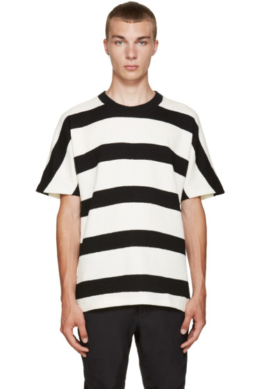 08Sircus - Ivory & Black Striped T-Shirt