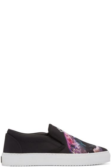 Marcelo Burlon County of Milan - Black Snake Slip-On Sneakers