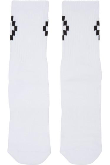 Marcelo Burlon County of Milan - White & Black Cruz Socks