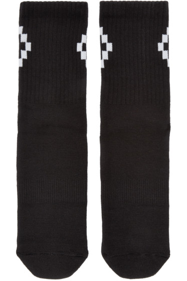 Marcelo Burlon County of Milan - Black & White Cruz Socks