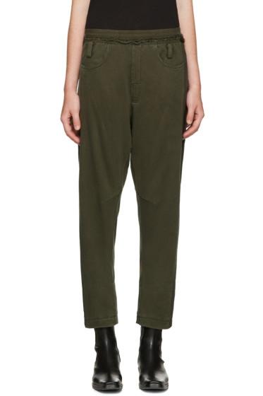 Haider Ackermann - Green Round Pockets Lounge Pants