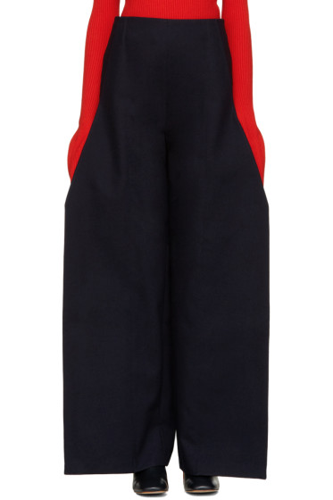 Jacquemus - Navy Flat Trousers