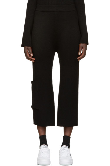 Each x Other - Black Rib Knit Lounge Pants