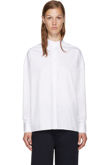 Each x Other - White Band Collar Shirt