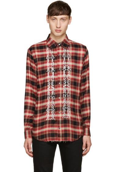 Christian Dada - Red Classic Cut-Off Shirt