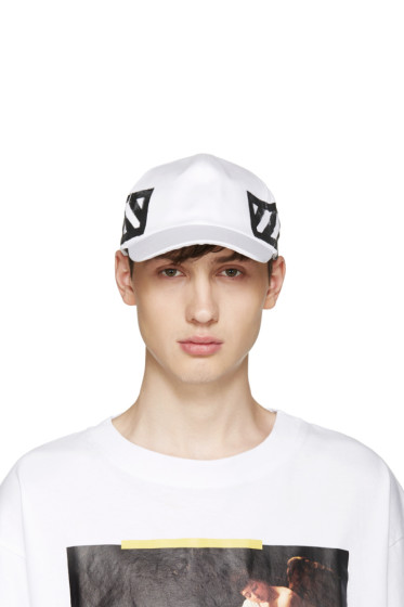 Off-White - White Brushed Diagonals Cap