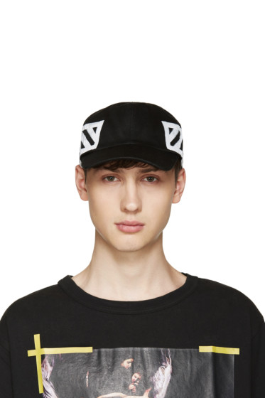 Off-White - Black Brushed Diagonals Cap