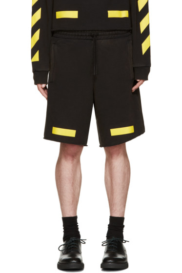Off-White - Black & Yellow Arrows Shorts