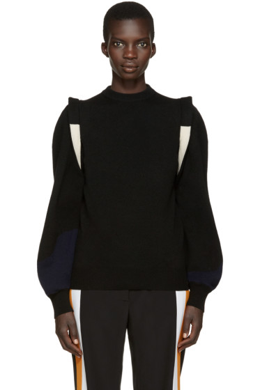 Toga - Black Wool Panelled Sweater
