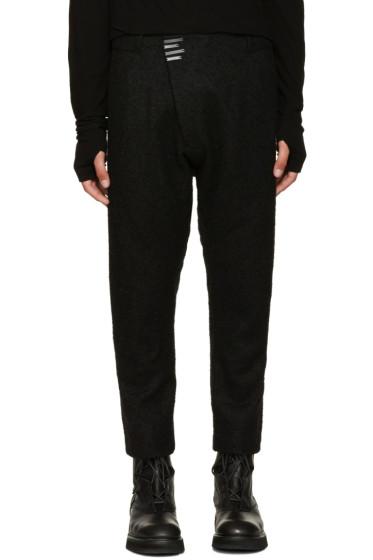Nude:mm - Black Wool Bouclé Trousers