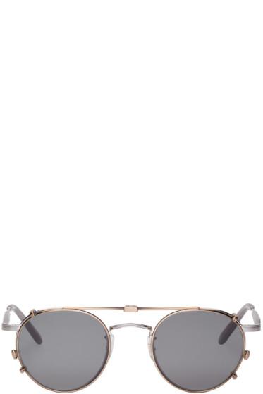 Garrett Leight - Silver Wilson M Clip-On Glasses