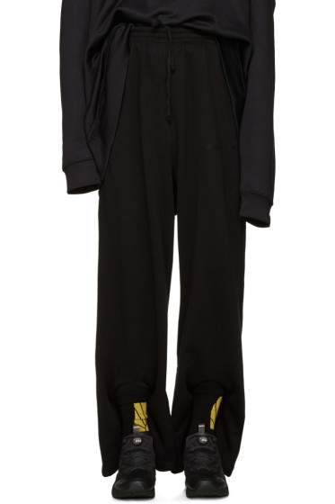 Gosha Rubchinskiy - Black Double Cuff Lounge Pants