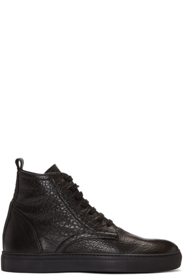 AD Ann Demeulemeester - Black Arid High-Top Sneakers