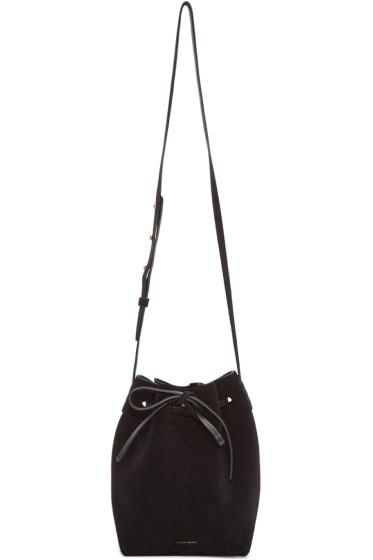 Mansur Gavriel - Black Suede Mini Bucket Bag