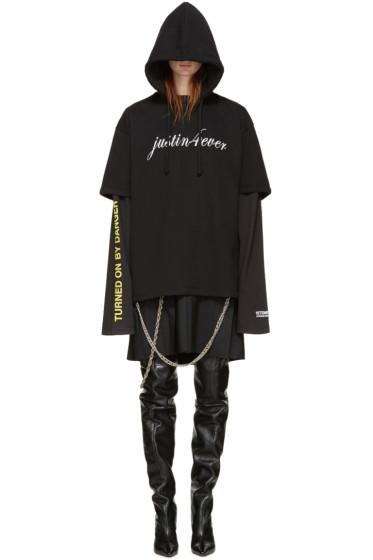 Vetements - Black 'Justin 4 Ever' Dress