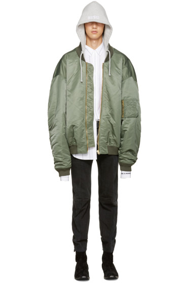 Vetements - Green Oversized Bomber Jacket