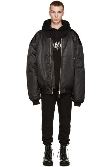 Vetements - Black Oversized Bomber Jacket