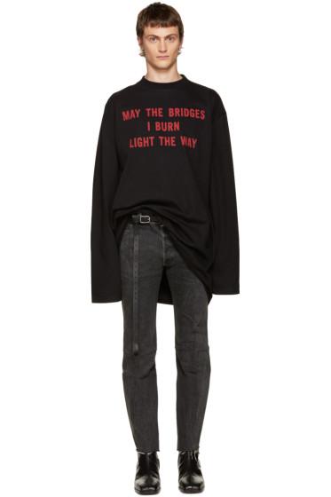 Vetements - Black 'May The Bridges' T-Shirt