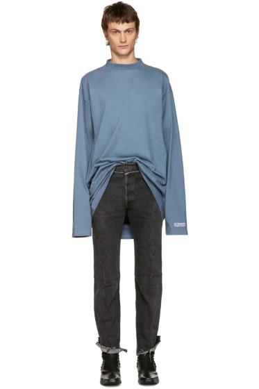 Vetements - Blue 'Straight Hate' T-Shirt