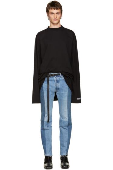 Vetements - SSENSE Exclusive Black 'Straight Hate' T-Shirt