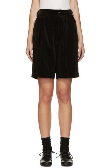 Comme des Garçons Girl - Black Velveteen Shorts