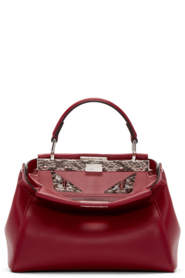 Fendi - Red Mini Peekaboo Bag