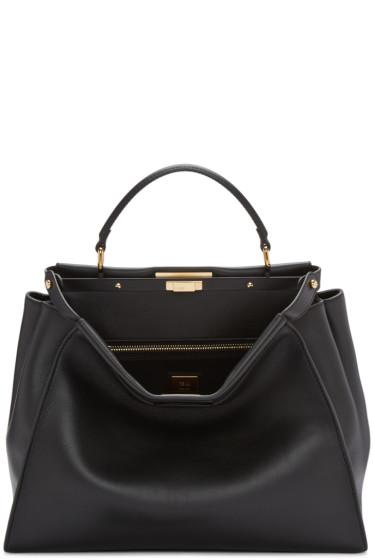 Fendi - Black Large Peekaboo Bag