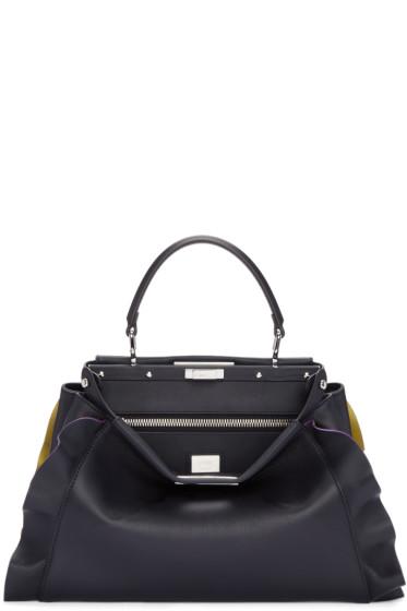 Fendi - Blue & Yellow Medium Peekaboo Bag