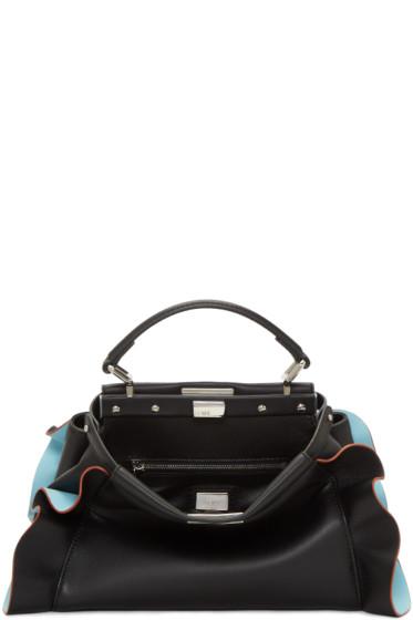 Fendi - Black & Blue Mini Peekaboo Bag