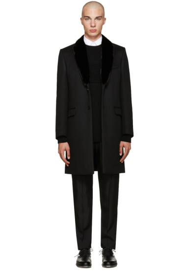 Fendi - Black Mink Collar Coat