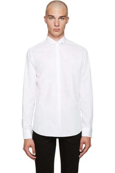Fendi - White Accent Collar Shirt