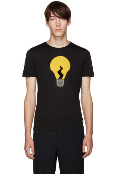 Fendi - Black Fur Light Bulb T-Shirt