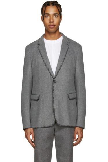 Wooyoungmi - Grey Blanket Stitch Blazer
