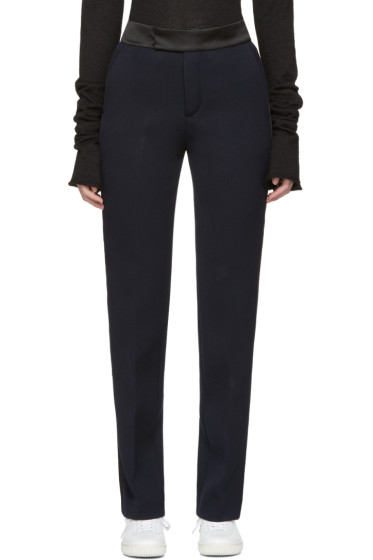 Ports 1961 - Navy Satin-Trimmed Trousers