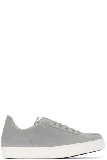 Spalwart - Grey Nubuck Court Sneakers