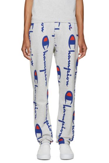 Champion Reverse Weave - Grey Logo Lounge Pants