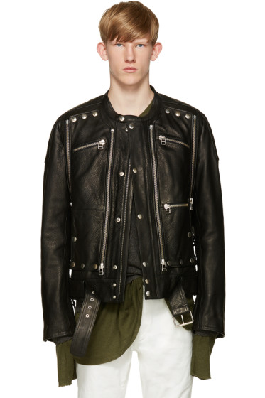 Faith Connexion - Black Leather Biker Jacket