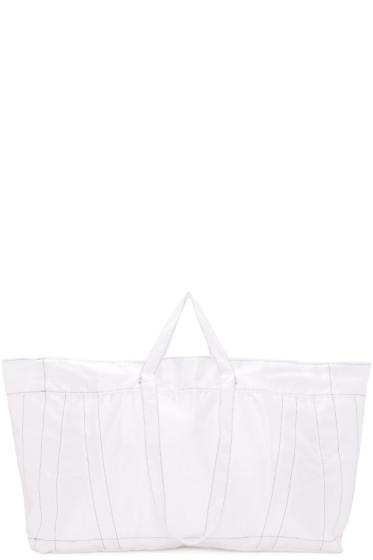 Ribeyron - White Big Shopper Tote