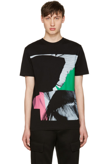 McQ Alexander Mcqueen - Black Wings Collage Classic T-Shirt