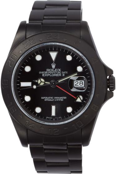 Black Limited Edition - Matte Black Limited Edition Rolex Explorer II Watch