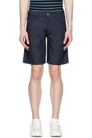 Diesel - Blue Denim Bust Shorts