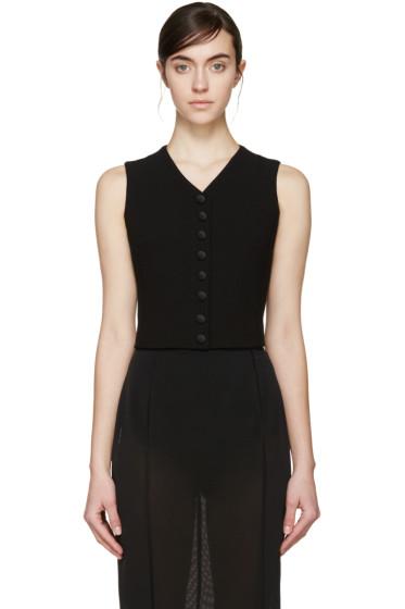 Dolce & Gabbana - Black Wool Waistcoat