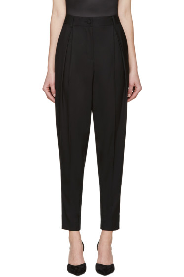 Dolce & Gabbana - Black Pleated Wool Trousers